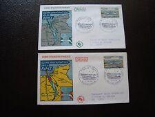 FRANCE - 2 enveloppes 1er jour 3/12/1966 (usine maremotrice de la rance) (B8)