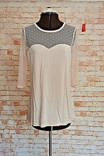 A852PETER ALEXANDER CREAM LACE NIGHTWEAR TOP SIZE M NWT