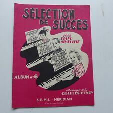 Partition Selection de succes pour piano simplifié 6 CHARLES HENRY      R. ERNY