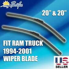 "Windshield Wiper Blades J-HOOK OEM QUALITY  20"" INCH Bracketless DODGE RAM TRUCK"