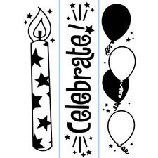 """Darice """"Birthday""""  Embossing Folder - Candles - Card Stamp - Invitation Template"""