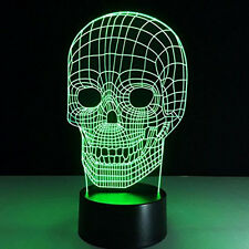 """Star Wars """"Skull""""  3D Illusion Acrylic LED Night Light  - Touch Switch Desk Lamp"""