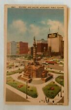 Soldiers and Sailors Monument Public Square Cleveland OH Postcard