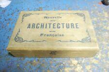 """coffret jeu de construction bois ancien  """" nouvelle architecture francaise """""""