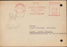 OBERLICHTENAU-CHEMNITZ, Postkarte 1949, Emil Bruno Müller Inkasso Büro