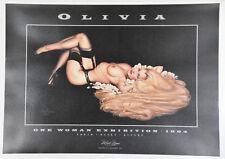 Rapunzel Olivia Robert Bane Vintage Orignal 1994 Art Gallery Exhibition Poster
