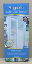 Country Club Magnetic Insect Fly Bug Pest Door Screen Curtain 90cm x 210cm - White