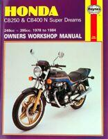 Honda CB250N, CB400N Super Dream 78-84 Haynes  workshop manual Manual