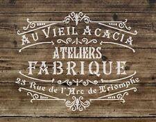 A3 Schablone Shabby Chic, Fabrique 2 .french, Möbel, Stoff, 125um Mylar (88)