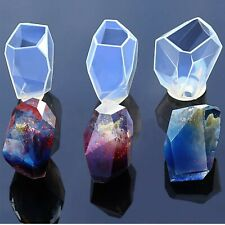 Gem Stone Crystal Mold Silicone Candle Molds 3 Shapes Large Size Resin Stone Mol