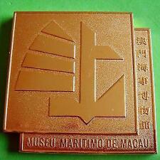 L@@k Macau Maritime Museum Macao People's Republic of China Bronze Plaque Medal!
