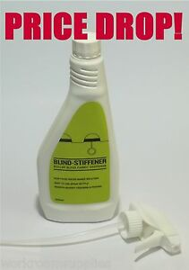 500ml Fabric Stiffener Roller Blind Fabric Spray Repair or Make your own Blinds