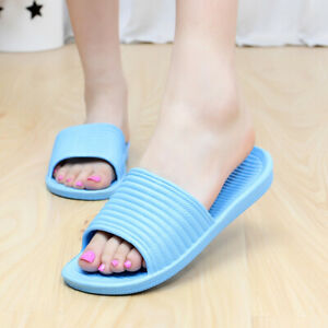 Indoor Shower Bath Slippers Women Men Non-Slip Home Bathroom Slippers Shoes ca