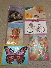 LOT 6 PAPYRUS GREETING CARDS BIRTHDAY WISHES, FRIEND, BLANK, NEW SEALED #57