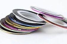 10 x kleuren Nail Art Striping Tape lijn Tips Nail decoratie Sticker