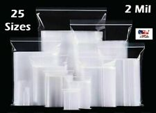 Clear Zip Lock Top Seal Plastic Bags 2Mil Reclosable Jewelry Pill Zipper Baggies