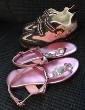 Girls Shoes Lot ~ Size 10-11 ~ Dora Explorer Athletic, Pink Jewel EASTER Sandals