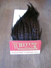 Fly Tying-Whiting Farms Bugger Pack Grizzly dyed Coachman Brown