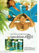 PUBLICITE ADVERTISING 036  1979  Ligne bain savo  eau de Cologne 4711 tosca