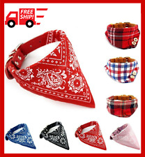 Bandana Scarf Bow Ties Pet Cat Dog Linen Plaid Collar Square Grooming Accessory