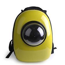 Pet Dog Cat Transparent Bubble Backpack Traveler Handbag Carrier Breathable Ylw