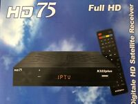 "Receiver ""HD 75 X322 plus"" SAT TV, ca.110 rus, ukr.+  deutsche Sender"
