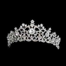 Bride Hair Accessories Tiara Wedding Bridal Crown Rhinestone Party Headwear 1372