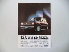 advertising Pubblicità 1980 FIAT 127 SPORT 70 HP