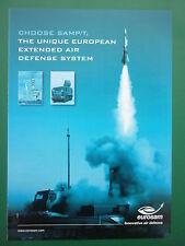 6/2008 PUB EUROSAM INNOVATIVE AIR DEFENSE SYSTEM MISSILE CAMION RENAULT TRUCK AD
