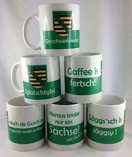 Kaffeetasse Porzellan Ostprodukt Ossi Spruch Kaffeebecher Sachsen Wappen Tasse