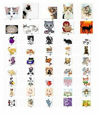 30 Personalized Return Address Labels Cats. Buy 3 get 1 free {c2}