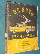 1957 DE SOTO MODELS S-25 / S-26 / S-27 / NICE ORIGINAL DESOTO SHOP MANUAL