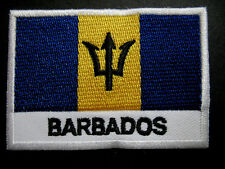 1 Barbados Flag Patch Embroidered National Flag Iron On Patch