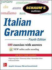 Schaum's Outline of Italian Grammar by Conrad J. Schmitt, Joseph E. Germano (Paperback, 2014)