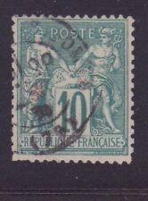 """FRANCE N°76 """" SAGE 10cVERT TYPE II """" OBLITERE TB"""