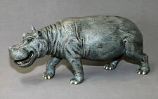 Incredible Hippopotamus Bronze Hippo Art Sculpture Figurine by Barry Stein