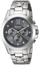 Versus by Versace Men's SBH050015 Chrono Lion Analog Display Quartz Silver Watch