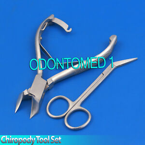 Set Of 2 Extra Long Toe Nail Scissor Ingrown Toe Clipper Pedicure Chiropody Tool
