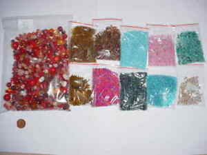 NEW 885g Mixed Seed Beads Turquoise, Brown Pink & Bronze , & Red Beads, Pink,