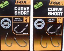 Fox CURVE SHORT Hooks, Haken, Karpfen-Haken, Boilie-Haken, Größe 2,4,6