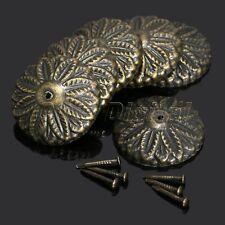 50Pcs Vintage Bronze Floral Upholstery Nail Tack Studs Pins Furniture Decorative
