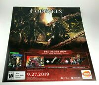 "Code Vein Promo Promotional Display Wall Poster 25"" x 24"" / Xbox One PS4"
