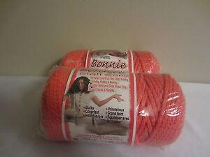 Lot of 2 rolls of Orange 4mm Bonnie Braid Braided Macrame Craft Cord 200yds