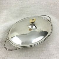 Antique Silver Plated Tureen Entree Dish Bowl Aristocratic Family Crest Armorial