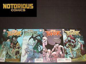 King Thor 1-4 Complete Comic Lot Run Set Marvel Jason Aaron Ribic Collection