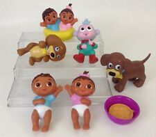 "Dora The Explorer Lg LOT 4"" Twins Boots Perrito Puppy PVC Figures Water Toy"