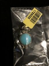 Silver Turquoise Pendant New With Tags
