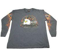 Harley-Davidson Sturgis Black Hills Rally 2004 Long Sleeve Eagle Flame Shirt XL