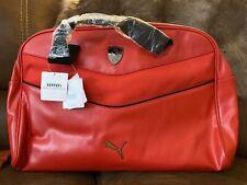 Scuderia Ferrari Puma LS Reporter Bag - Leather Rosso Corsa
