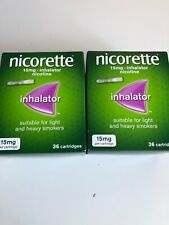 2x Nicorette Inhalator 15mg Cartridges (36) 1/2021
